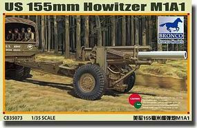 Bronco US 155mm Howitzer M1A1 Plastic Model Artillery Kit 1/35 Scale #35073