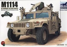 Bronco M-1114 Up-Armored Tactical Vehicle Plastic Model Humvee Kit 1/35 Scale #35080