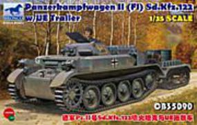 Panzerkampfwagen II (F1) Sd.Kfz.122 Plastic Model Military Vehicle 1/35 Scale #35090