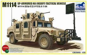 Bronco M1114 Up-Armored Heavy Tactical Vehicle Plastic Model Humvee Kit 1/35 Scale #35092