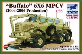 Bronco Buffalo 6x6 MPCV 2004-2006 Plastic Model Military Truck Kit 1/35 Scale #35100