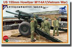 Bronco US 155mm Howitzer M114A1 Plastic Model Artillery Kit 1/35 Scale #35102