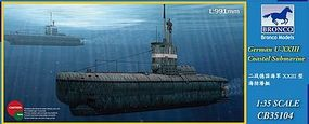 Bronco German U-XXIII Coastal Submarine Plastic Model Submarine Ship Kit 1/35 Scale #35104