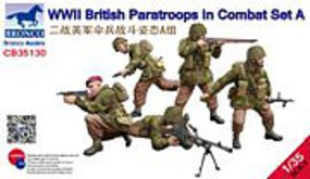 Bronco WWII British Paratroops A Plastic Model Military Figure Kit 1/35 Scale #35130