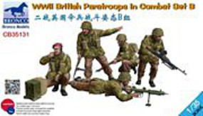 Bronco WWII British Paratroops B Plastic Model Military Figure Kit 1/35 Scale #35131