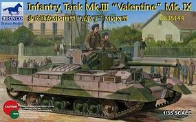 Bronco Valentine Mk.IX with photoetched parts Plastic Model Tank Kit 1/35 Scale #35144