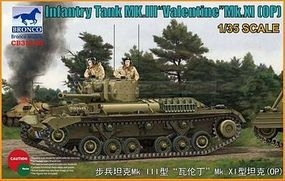 Bronco Valentine Mk.XI with photoetched parts Plastic Model Tank Kit 1/35 Scale #35146