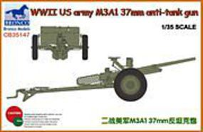 Bronco WWII US Army M3A1 3mm Anti-Tank Gun Plastic Model Military Vehicle Kit 1/35 Scale #35147