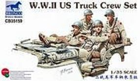 Bronco WWII US Truck Crew Plastic Model Military Figure 1/35 Scale #35159