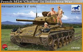 Bronco French M24 Chaffee with Photoetched Parts Plastic Model Military Vehicle 1/35 Scale #35166