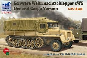 Bronco Schere Wehmachtschlepper Plastic Model Halftrack Kit 1/35 Scale #35172