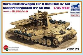 Bronco Versuchsflakwagen Fur 8.8cm Flak.37 Auf Plastic Model Military Vehicle 1/35 Scale #35174