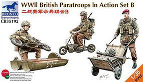 Bronco WWII British Paratroops In Action Set B Plastic Model Military Figure Kit 1/35 Scale #35192