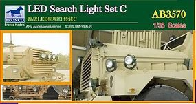 Bronco LED Search Light Set C Plastic Model Vehicle Accessory 1/35 Scale #3570