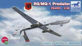 Bronco RQ/MQI Predator Unmanned Aircraft Plastic Model Airplane Kit 1/48 Scale #4003