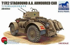 Bronco T17E2 Staghound Armoured Plastic Model Armored Car Kit 1/48 Scale #48002
