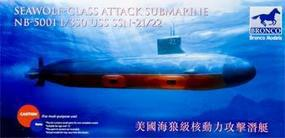 Bronco USS SSN 21/22 Seawolf Class Attack Submarine Plastic Model Submarine Kit 1/350 #5001