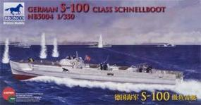 Bronco German S-100 Class Schnellboot WWII Torpedo Plastic Model Torpedo Boat Kit 1/350 #5004