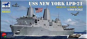 Bronco USS New York LPD-21 Plastic Model Military Combat Ship 1/350 Scale #5024