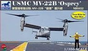 Bronco USMC MV-22B Osprey Plastic Model Helicopter Kit 1/350 Scale #5032