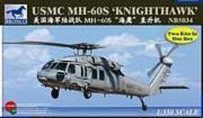 Bronco USMC MH-60S Knighthawk Plastic Model Helicopter Kit 1/350 Scale #5034