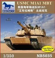 Bronco USMC M1A1 Abrams MBT Plastic Model Tank Kit 1/350 Scale #5035
