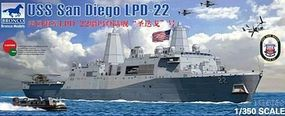 Bronco USS SAN DIEGO LPD-22 1-350 Plastic Model Military Ship #5038