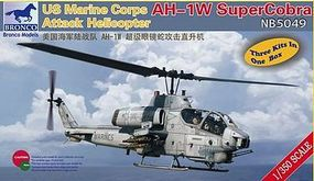Bronco USMC AH-1W Super Cobra Attack Helicopter Plastic Model Helicopter Kit 1/350 Scale #5049
