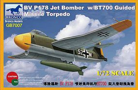 Bronco Blohm & Voss BV P178 Jet Bomber with BT700 Plastic Model Airplane Kit 1/72 Scale #gb7007