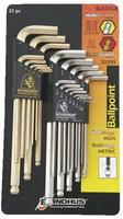 Bondhus 22pc Ball Driver L Wrench Set Metric/Standard