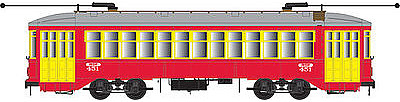 Bowser Manufacturing Co. New Orleans Streetcar red #450 -- HO Scale Model Train Streetcar -- #12840