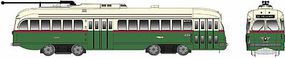 Bowser Kansas City-Style PCC Streetcar Philadelphia #2286 HO Scale Model Train Passenger Car #12902