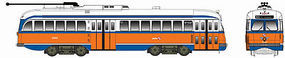 Bowser Kansas City-Style PCC Streetcar Philadelphia #2240 HO Scale Model Train Passenger Car #12907