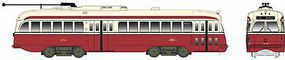 Bowser Kansas City-Style PCC Streetcar Toronto Transit 4750 HO Scale Model Train Passenger Car #12909