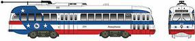 Bowser Kansas City-Style PCC Streetcar Bicentennial Scheme HO Scale Model Train Passenger Car #12928