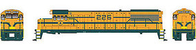 Bowser GE U25B DCC Maine Central #229 (yellow, green) HO Scale Model Train Diesel Locomotive #23822