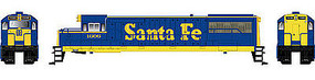 Bowser GE U25B DC Santa Fe #1609 (blue, yellow) HO Scale Model Train Diesel Locomotive #23833