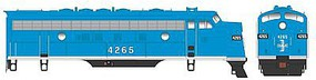 Bowser EMD F7A DCC - Executive Line - Boston & Maine #4265 HO Scale Model Train Locomotive #24030