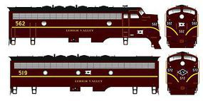 Bowser F-7a Lehigh Valley #562 with Sound HO Scale Model Train Diesel Locomotive #24058