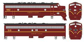 Bowser EMD F7 A-B Set Standard DC Lehigh Valley #562, 519 HO Scale Model Train Locomotive #24060