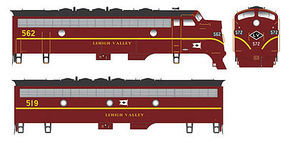 Bowser EMD F7 A-B Set w/LokSound & DCC Lehigh Valley #572, 513 HO Scale Model Train Locomotive #24063