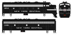 Bowser F7A/B DC New York Central #1842 & 3470 HO Scale Model Train Diesel Locomotive #24068