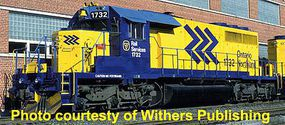 Bowser SD40-2 Ontario Northland #1736 with Sound HO Scale Model Train Diesel Locomotive #24122