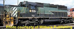 Bowser SD40-2 British Colombia Railway #754 with Sound HO Scale Model Train Diesel Locomotive #24128