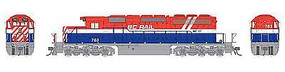 Bowser SD40-2 British Colombia Railway #764 HO Scale Model Train Diesel Locomotive #24131
