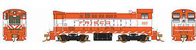 Bowser VO-1000 DC SLSF Frisco #209 HO Scale Model Train Diesel Locomotive #24224
