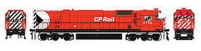Bowser M636 with Sound Canadian Pacific #4727 HO Scale Model Train Diesel Locomotive #24299