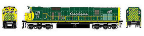 Bowser Milwaukee Class M636 DC Cartier #76 HO Scale Model Train Diesel Locomotive #24316