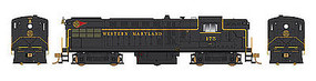 Bowser AS-16 with Sound Western Maryland #176 HO Scale Model Train Diesel Locomotive #24384
