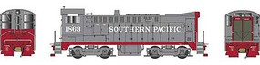 Bowser Baldwin DS 4-4-1000 - LokSound & DCC - Executive Line Southern Pacific 1863 (1965 Renumbering, gray, red)